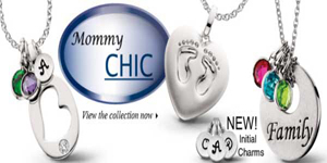Mommy Chic - Celebrate your family with personalized stacking pendants in sterling silver....