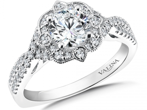 Floral Shape Halo (0.31 ct. tw.) by Valina