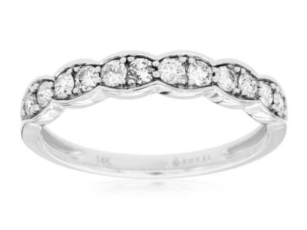 Diamond Wedding Band by Royal Jewelry Manufacturers
