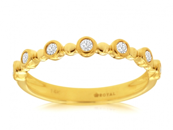 Diamond Stackable Ring by Royal Jewelry Manufacturers