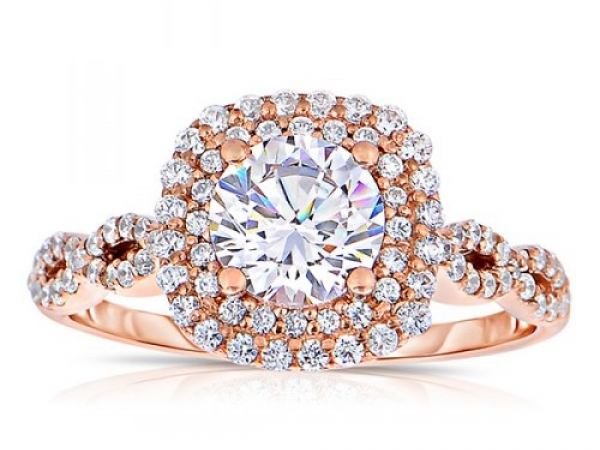 Round Cut Double Halo Infinity by True Romance