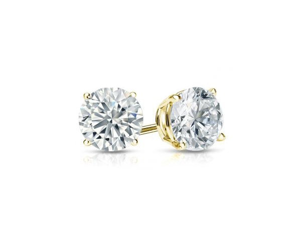 Diamond Stud Earrings by IDDeal Star Collection