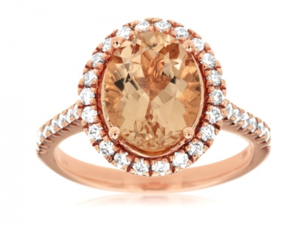 Morganite Ring by Royal Jewelry Manufacturers