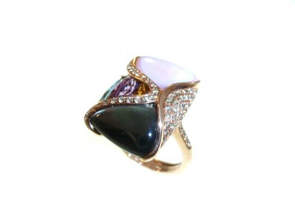 Colored Gemstone Ring by Bellarri