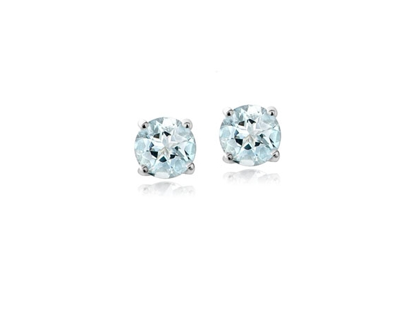 Aquamarine Studs by Royal Jewelry Manufacturers