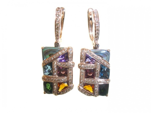 Colored Gemstone Earrings by Bellarri