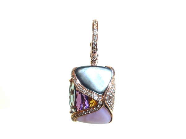 Colored Gemstone Pendant by Bellarri
