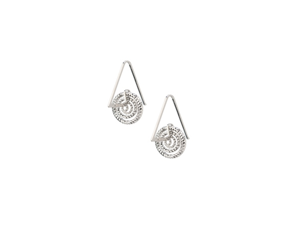 Silver Earrings by Frederic Duclos
